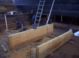 Planks ready to be fitted