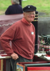 Martin Grundy at Saltersford Lock, 1998