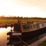 Beatty moored at sunset
