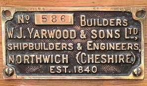Yarwoods Builder's Plate